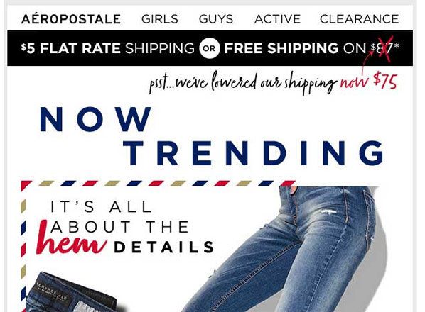 aeropostale-email-typography
