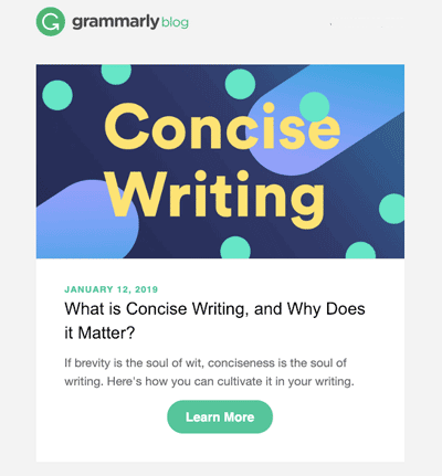 consise email writing